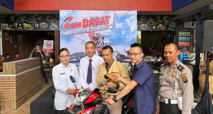 Afran Junaidi Menang Undian Isi BBM Berhadiah Motor Honda Supra GTR