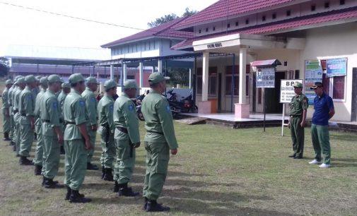 22 Anggota Linmas Desa Karang Endah Diberikan Arahan Jelang Pemilu 2019