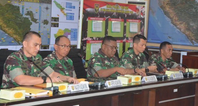 Cek Kesiapan Pengamanan Jelang Pemilu, Pangdam II/Sriwijaya Gelar Vidcon Bersama Danrem