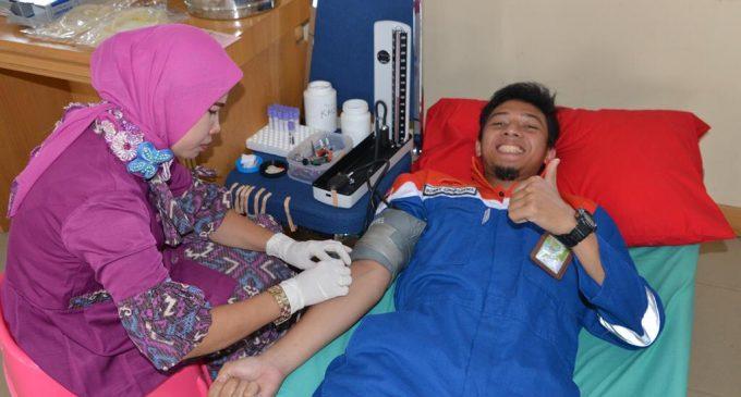Pertamina EP Aset II Prabumulih Gelar Bakti Sosial Donor Darah