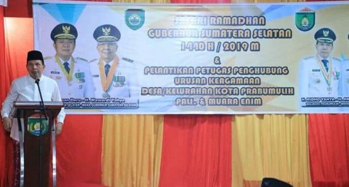 Gubernur Sumsel Kukuhkan P2UKD dan P2UKK Sekaligus Safari Ramadhan di Prabumulih