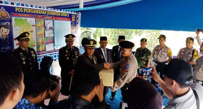 Bupati dan Polres Muara Enim Cek Pos Pengamanan Operasi Ketupat Musi 2019
