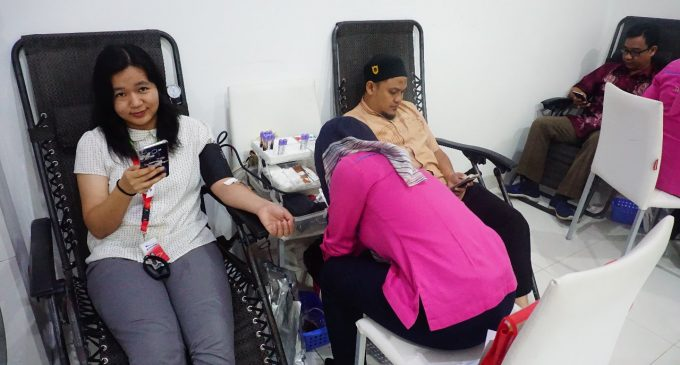 Donor Darah Astra Motor Sumsel,49 Kantong Terkumpul