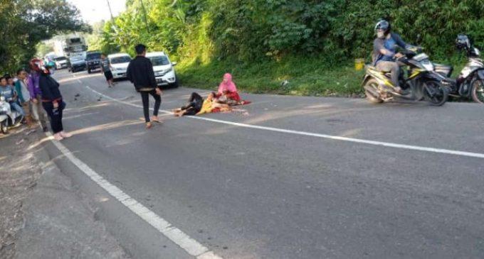Terjadi Lakalantas di Muara Enim, Kepala Korban Remuk Terlindas Mobil