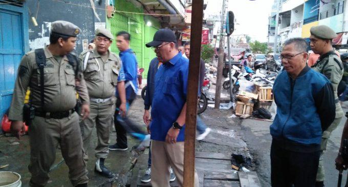 Cara Tegas Bupati Ahmad Yani Tegur PKL Tak Tertib Dikawasan Pasar Inpres Muara Enim