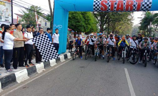 750 Peserta Meriahkan Fun Bike dan Jalan Santai Bhayangkara