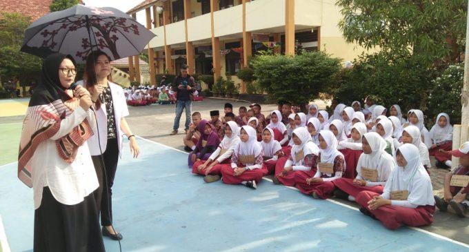 Penyuluhan Kesehatan Tutup MPLS SMP 46 Palembang
