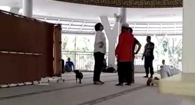 Perempuan Pembawa Anjing Masuk Masjid Ditetapkan Tersangka