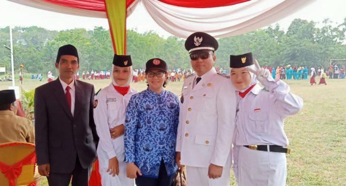 Pelaksanaan Upacara HUT Republik Indonesia Ke-74, di Desa SukadamaiBerlangsung Khidmat