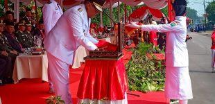 Peringatan HUT RI Ke 74 di Muara Enim Berlangsung Khidmat dan Meriah