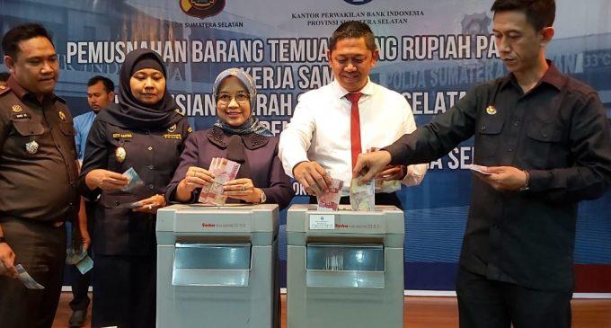 BI Perwakilan Sumsel Musnahkan 6.900 Lembar Uang Palsu