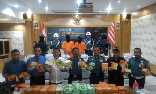 Lanal Palembang Gagalkan Penyeludupan 79 Kg Narkoba Jenis Sabu
