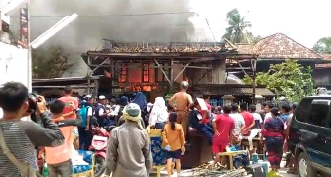 Kebakaran di Jalan Panca Usaha, Satu Rumah Panggung Hangus Terbakar