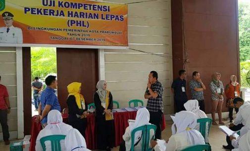 Ribuan PHL Pemkot Prabumulih Ikuti Seleksi Uji Kompetensi