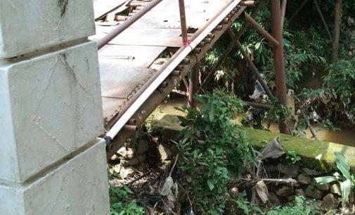 Nyaris Roboh,Jembatan di Tengah Kota ini Lolos dari Perhatian PUPR PALI