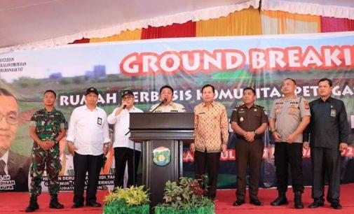 Ground Breaking Pembangunan Perumahan Komunitas Petugas Kebersihan Kota Prabumulih