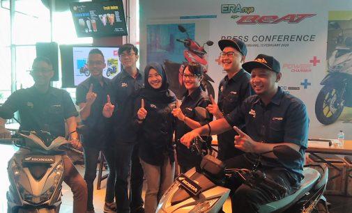 Honda Sumsel Luncurkan BeAT Terbaru Bersama Virzha