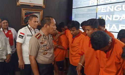 Reskrim Polresta Palembang Tangkap 32 Pemain Narkoba