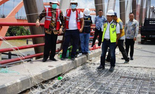 Perbaikan Jembatan Musi II Rampung Awal April
