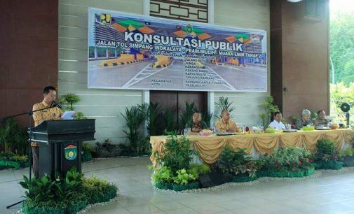 Konsultasi Publik Rencana Pembangunan Jalan Tol simpang Indralaya-Prabumulih-Muara Enim Tahap 2