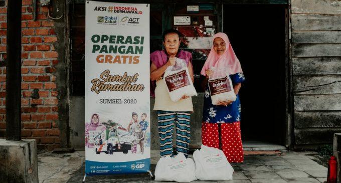 Warga Prasejahtera di Palembang Senang Dapat Paket Pangan Ramadhan