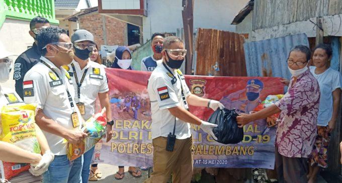 Bantu Warga Kurang Mampu, Polresta Palembang Sebar 5 Ribu Paket Sembako