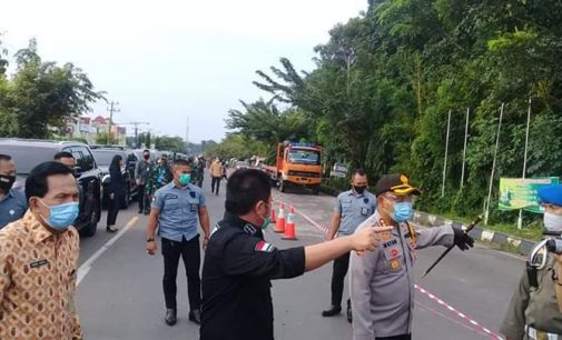 Gubernur Tinjau Pelaksanaan PSBB Kota Prabumulih