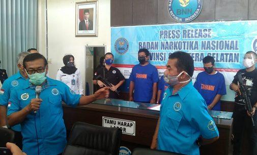 BNNP Sumsel Bekuk Kurir Narkoba Jaringan Lintas Provinsi