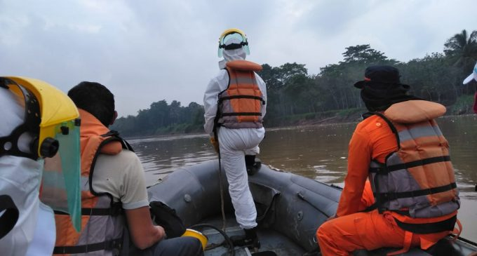 Basarnas Sumsel Terjun Cari Pencari Ikan Yang Tercebur dan Hilang di Sungai Ogan