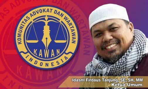 Ketum KAWAN Indonesia Kutuk Keras Pembunuhan Wartawan di Mamuju, Minta Polisi Usut Hingga Tuntas