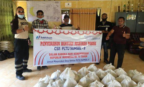 HUT RI ke 75 PLTU Sumsel 8 Bagikan 400 Paket Bahan Pokok