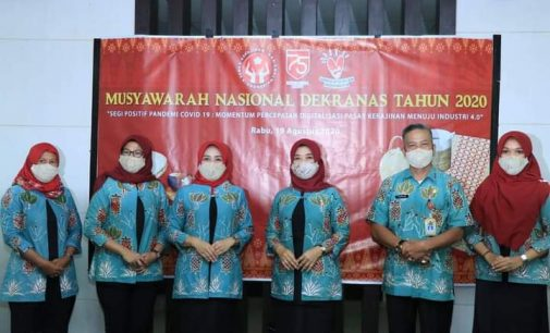 Vidcon Ketua Deskranasda Prabumulih Dalam Munas Deskranasda Tahun 2020