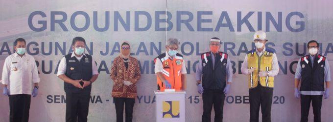 Groundbreaking Tol Palembang-Betung, HD Harap Dapat Pacu Pertumbuhan Ekonomi Daerah