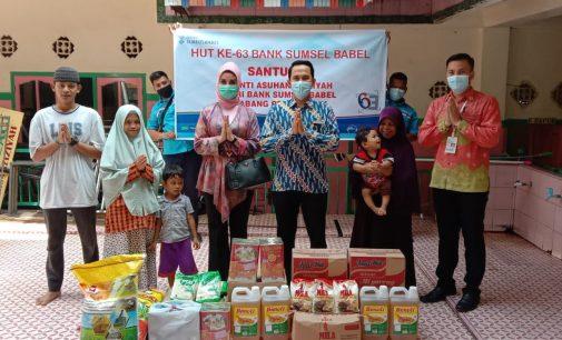 Rayakan HUT ke 63, BSB Prabumulih Serahkan Bantuan Sembako ke Panti Asuhan Aziziyah