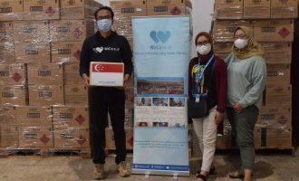 Singapura Berikan Dukungan APD 160 Ton