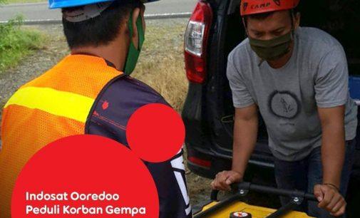 Indosat Ooredoo Peduli Korban Gempa Mamuju