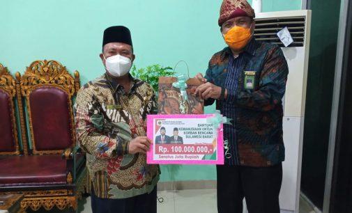 Kemenag Sumsel Bantuan Rp100 Juta Untuk Korban Bencana Alam Sulbar