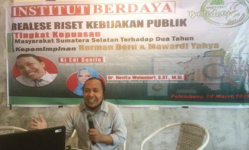 Survei Institut Berdaya: 70,08 Masyarakat Sumsel Puas dengan kinerja Pemerintahan HDMY