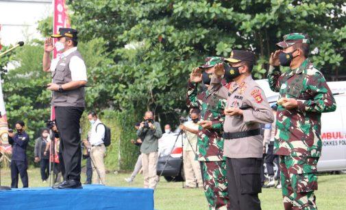 Antisipasi Gangguan Keamanan Jelang Idul Fitri, Herman Deru Pimpin Apel Gabungan Ketupat Musi