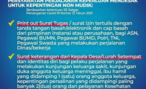 Herman Deru : Petugas Pos Jaga Harus Jeli Bedakan Mudik dan Non Mudik