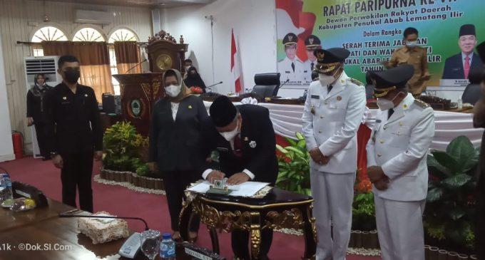 DPRD PALI Rapat Paripurna Gelar Sertijab Bupati dan Wakil Bupati
