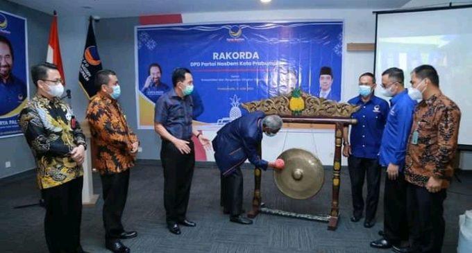 Gubernur Sumsel Buka Rakorda DPD Nasdem Prabumulih