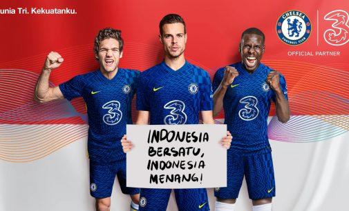 Kerjasama dengan Chelsea, 3 Berikan Kuota Gratis Tiap Kali The Blues Menang