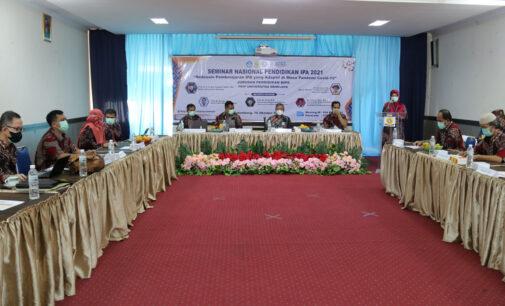 FKIP Unsri Gelar Seminar Efektifitas Pembelajaran IPA di Masa Pandemi Covid 19